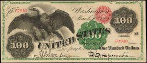 1863 U.S. 100 banknote