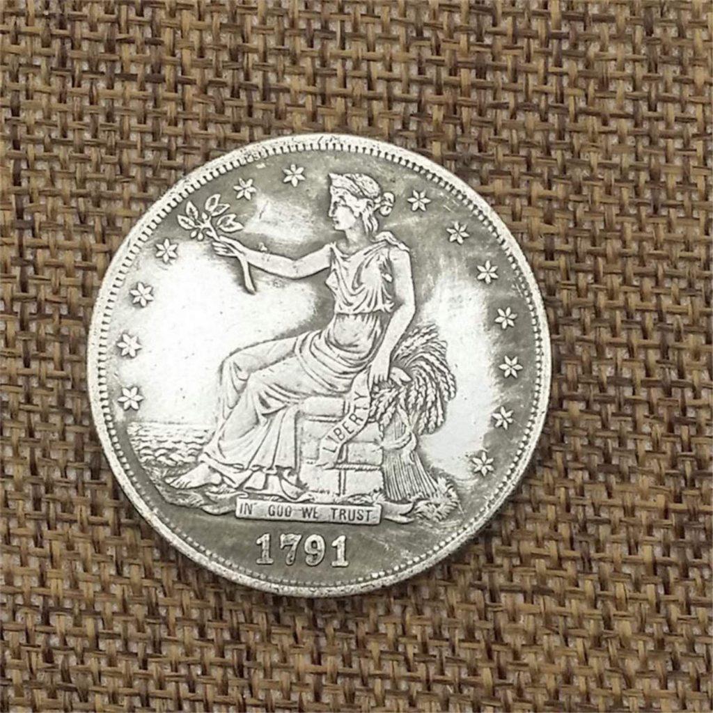 Fake 1791-CC Trade #1 obverse