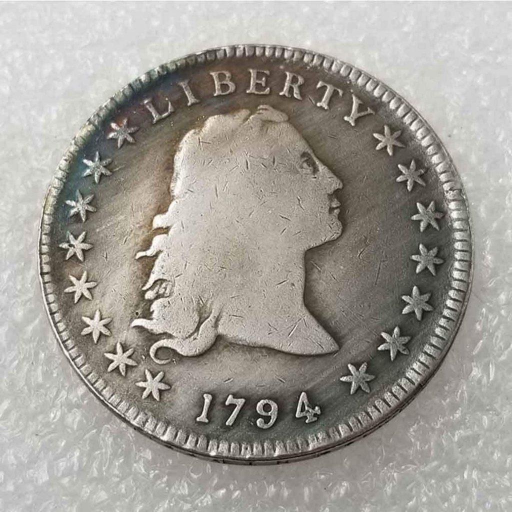 Fake 1794 $1 obverse