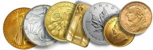 coins and bars